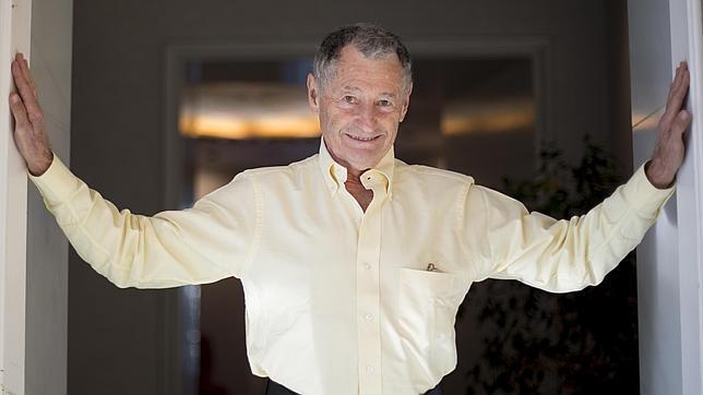 IGNACIO GIL Leonard Kleinrock, uno de los «padres» de internet, durante la entrevista con ABC
